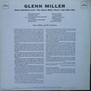 """Glenn Miller Plays Selections From """"The Glenn Miller Story"""" And Other Hits"""