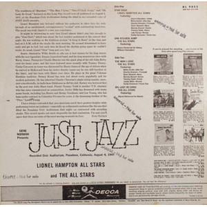 "Gene Norman Presents The ""Just Jazz"""